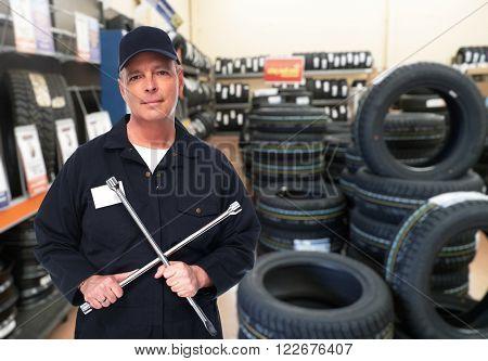 Car repair service worker.