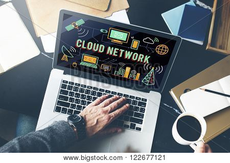 Cloud Network Computing Digital Data Storage Concept