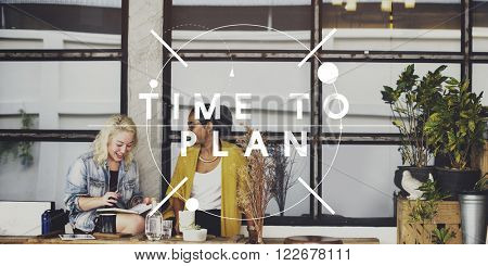 Time to Plan Management Idea Mission Objective Concept