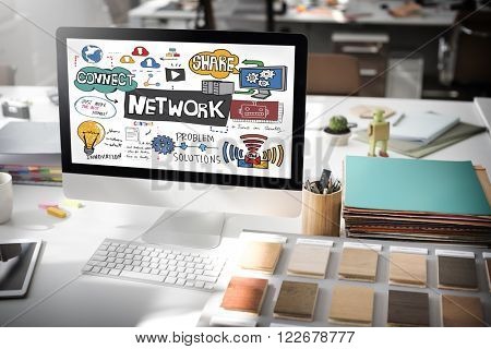 Network Connection Technology Digital Modern Concept