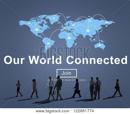 Our World Connected Networking Link Concept
