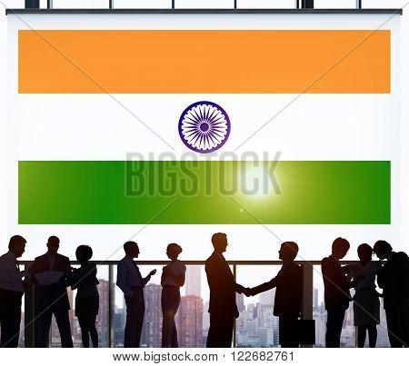 India Flag Patriotism Indian Pride Unity Concept poster