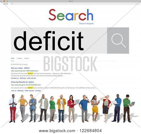 Deficit Crisis Problem Bankruptcy Debt Deficiency Concept