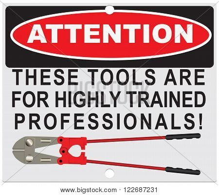 Attention! These tools are for highly qualified specialists! poster