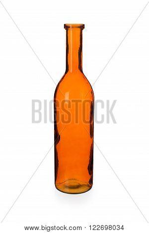 Empty Orange Bottle Vase