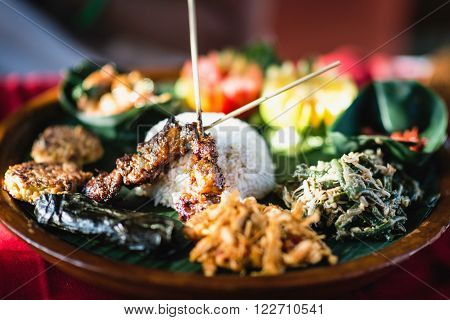 Delicious Nasi Goreng traditional Indonesian dish, close up