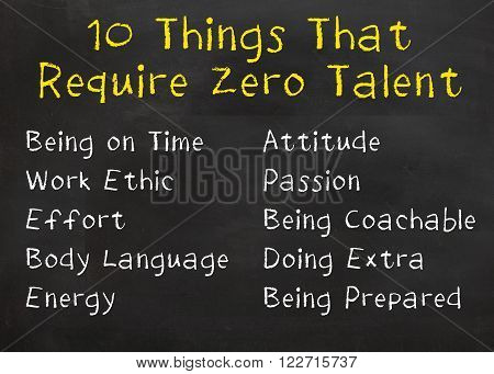 Motivational saying that you can do so much without talent to get a job and you don't realize it