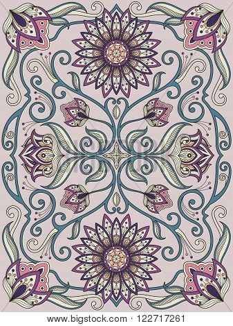 Graceful Flower Coloring Page