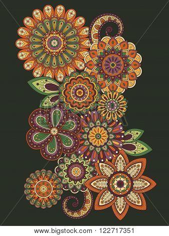Elegant Flower Coloring Page