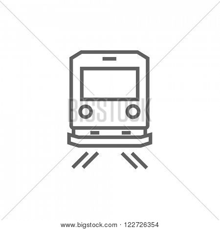 Back view of train line icon.
