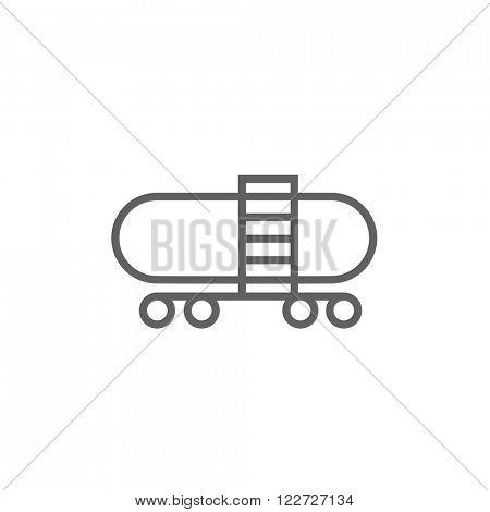 Railway cistern line icon.
