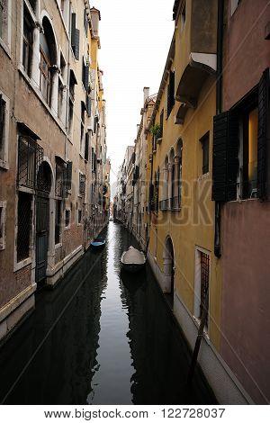 Boats At Moorings In Venice