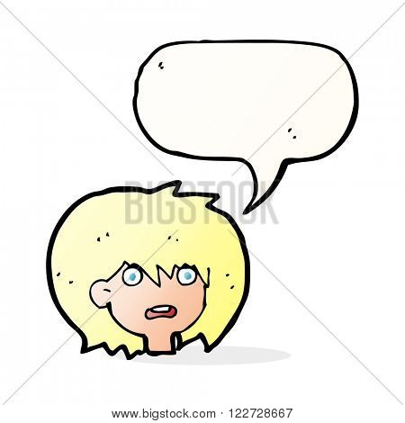 cartoon shocked expression  with speech bubble