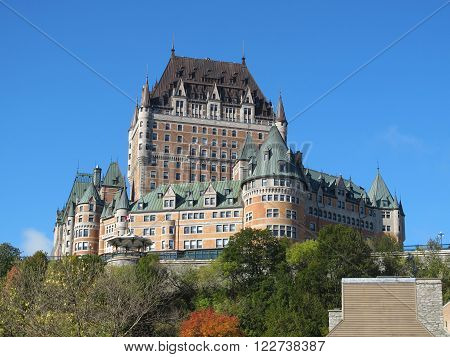 The hotel Chateau Frontenac in Quebec city, Canada