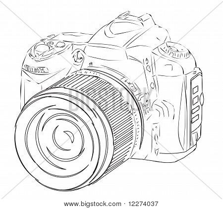 Vector sketch of the digital camera