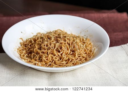Japanese traditional food instant udon noodles., Noodle ** Note: Soft Focus, best at smaller sizes