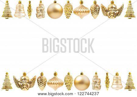 Golden Christmas Decoration Frame