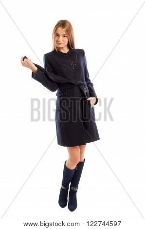 Fashionable Young Business Lady Posing
