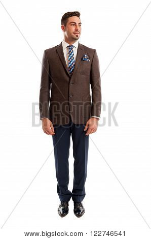 Fashionable Sales Man Standing