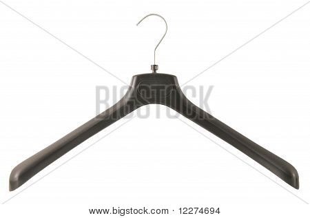 black clothes hanger