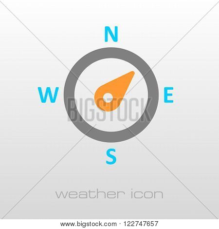 Compass wind rose outline icon. Direction northeast. Meteorology. Weather. Vector illustration eps 10