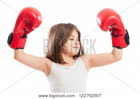 Portrait Of A Young Boxer Girl