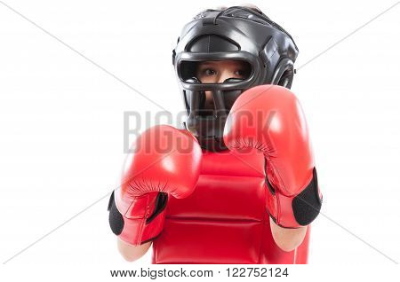 Young Boxer Girl With Equipment