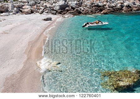 Beach on the Island of Skopelos, Nothern Sporades,  Greece