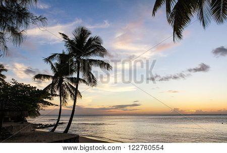 Gros Islet Beach at sunset, East Winds Inn Resort, Saint Lucia, Caribbean Sea