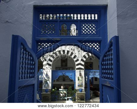 sidi bou said in the african tunesia