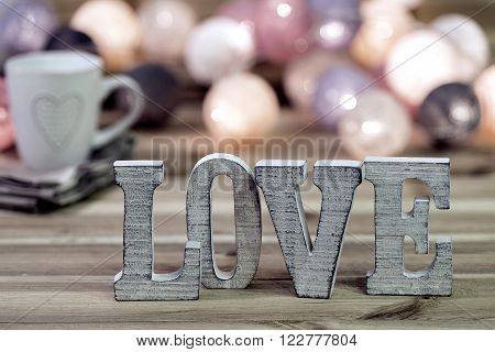 I love the beauty decoration letters witn heart
