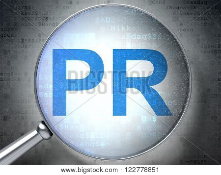 Advertising concept: PR with optical glass