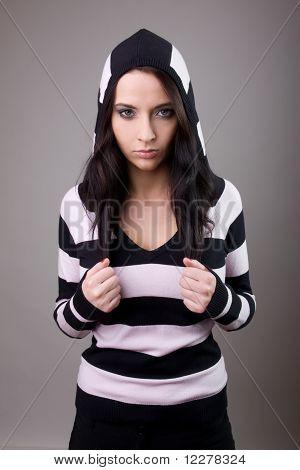Girl In Stripes Woolly