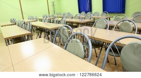 Seats in lecture hall or classroom
