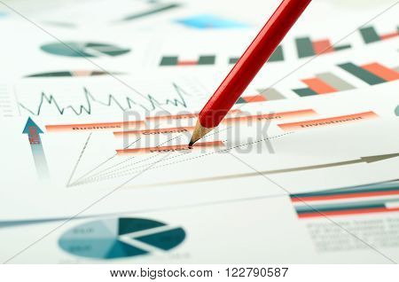 colorful graphs charts marketing research and business annual report background management project budget planning financial and education concepts
