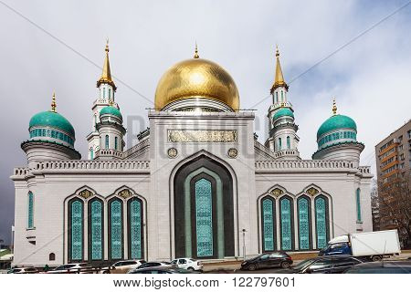 Exterior Of Moscow Cathedral Mosque