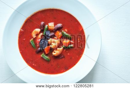 Portion Of Minestrone Soup