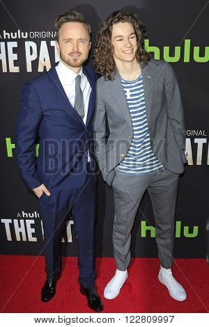 LOS ANGELES - MAR 21: Aaron Paul, Kyle Allen at the Premiere of 'The Path' at Arclight Hollywood on March 21, 2016 in Los Angeles, California