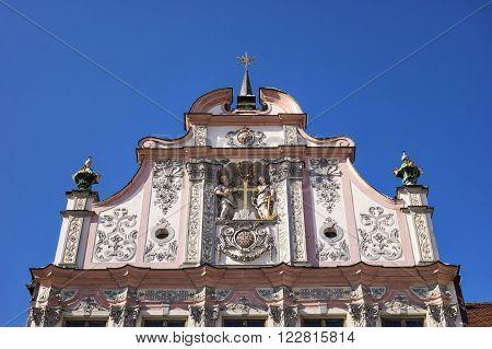 Facade Townhall Landsberg Lech