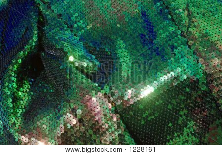 Green Fish Scale Fabric 06