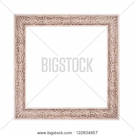 beautiful classical photo frame isolated on white background.