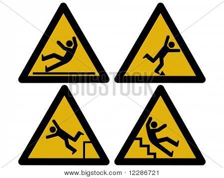 Caution signs figures falling tripping and slipping JPG