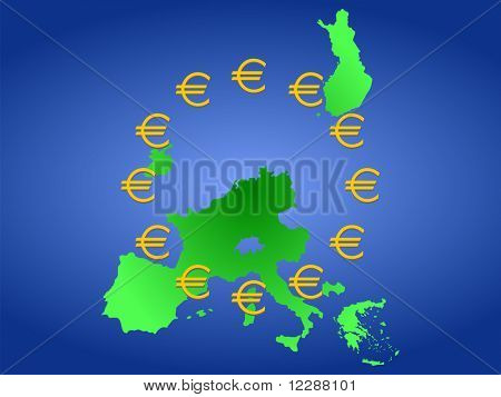 map of european countries that use the euro JPG