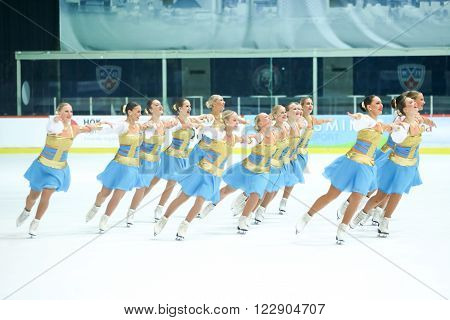 Team Sweden Two Group Perform