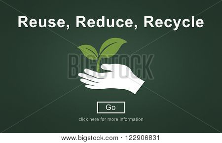 Reuse Reduce Recycle Sustainability Ecology Concept poster