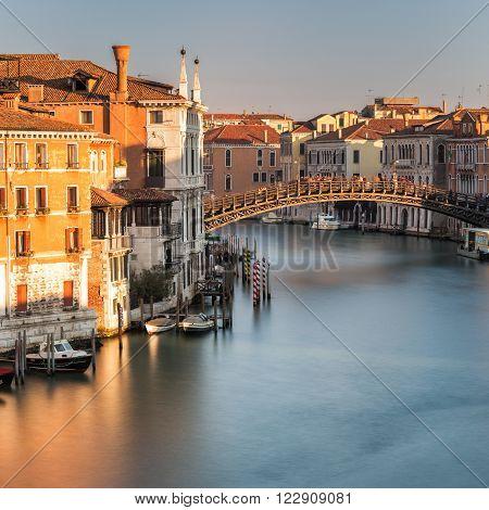 Ponte Dell'accademia Over Garnd Canal In Venice