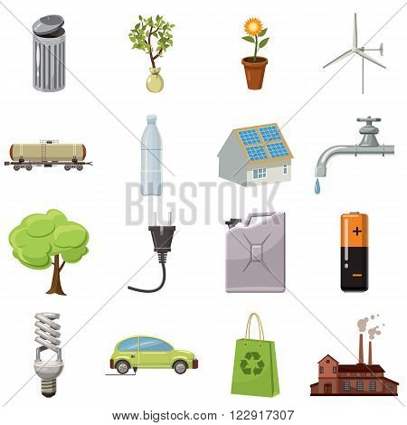 Ecology icons set use for any design
