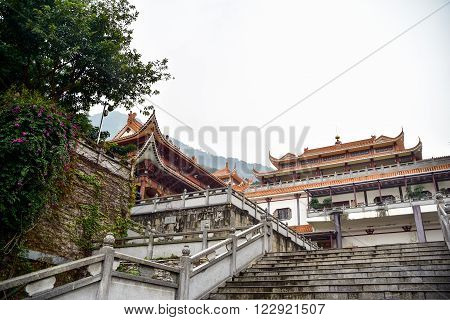 Landscape of Hongfa temple buddhist monastery complex