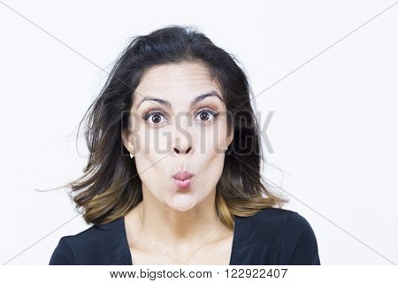 Pretty Woman With Weird Expression