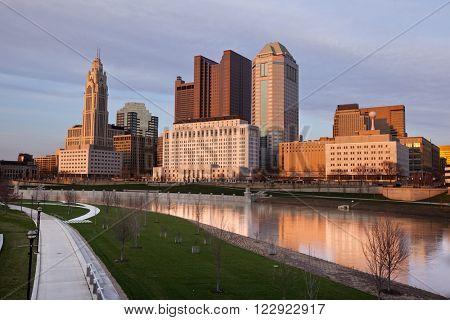 Columbus, Ohio along the Scioto River